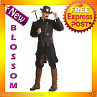 C848 Steampunk Gentleman Military Victorian Army Historical Halloween Costume