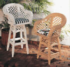 Classic Wicker Lanai Bar Room Counter Stools