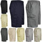 MENS CARGO COMBAT PLAIN SHORTS SUMMER COTTON BEACH SHORTS 6 POCKETS LONG M-XXXL