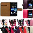 Flip Pu Leather Flip Case Wallet Cover For The Sony Xperia J ST26i