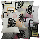 Life Style Checker Flower Linen Cotton Blend Cushion/Pillow Case*Custom Size*