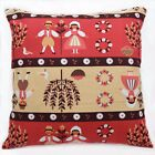 LL307a Brown Red Pink Kids Pure Cotton Canvas Fabric Cushion Cover/Pillow Case