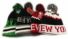 New York Bobble Beanie Hat, Designer Pom Pom Hats Beanies, Limited Edition