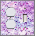 Metal Light Switch Plate Cover Tranquil Butterflies Purple Butterfly Home Decor