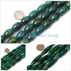 "jewelry making olivary green dyed Chrysocolla beads strand15"" seed-beauty"