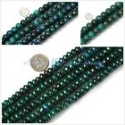 Jewelry making Rondelle green dyed Chrysocolla beads strand 15""