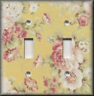Light Switch Plate Cover - Rose Bouquet - Pink Yellow - Floral Home Decor