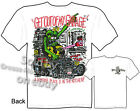 Rat Fink T Shirt Get Out Of My Garage Hot Rod Big Daddy Tee Sz M L XL 2XL 3XL