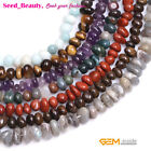 "Fashion Freeform Potato GEM Jewelery Making DIY Beads Strand 15"" 8-10x10-12mm"