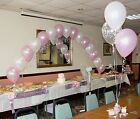Christening Balloons - Boy or Girl - Arch & 10 Table Decorations - All Colours