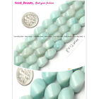 Jewelry making Smooth twist amazonite fashion gemstone beads strand 15""