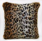 Fi705a Light Tan Leopard Long Faux Fur Cushion Cover/Pillow Case*Custom Size*