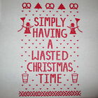 simply having a wasted christmas time ugly sweater santa xmas party beer t shirt