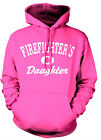 FIREFIGHTER'S DAUGHTER SWEATSHIRT HOODY.  PINK OR BLUE Firefighter's Daughter