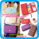 Travel Wallet Card Phone Holder Coin Bag Pouch Purse iPhone 4/5S S4 note 3 Case