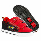 NEW HEELYS X2 SPEED JUNIOR KIDS BOYS RED WHITE BLACK ROLLER TRAINERS BOOTS