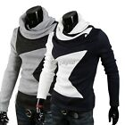 New Mens Fashion Hoodies Style Top Design Turtleneck Pullover Sweater 35DI
