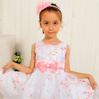 #P188 Pinks Christmas Wedding Party Flower Girls Dresses Outfit SIZE 6-7-8-9-10T