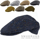 PURE 100% WOOL FLAT CAP SHOOTING CAP MADE IN IRELAND TWEED HERRINGBONE