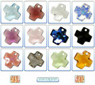 Swarovski Crystal Pendant 6866 Cross 20mm *Many Colours*