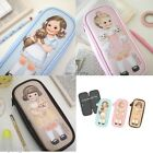 Paper Doll Mate Pen Case Cosmetic Makeup Case Pouch Bag Vintage Girl Cute Kawaii