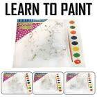 Learn To Paint By Numbers Brush Acrylic Painting Art Artist Kit Junior Kid Craft