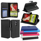 for LG G2 (D800) - PocketBook PU Leather Wallet-Style Case Hard Flip Cover Stand