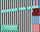 STRIPES PATTERN VINYL #1 Striped Craft Decal Sheets Scrapbook PICK YOUR COLORS