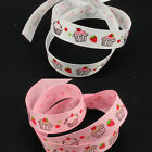 "Cupcake Grosgrain Ribbon 10mm 3/8"" 16mm 5/8"" 38mm 1 1/2"" Pink / White, 2-4 Metre"
