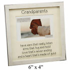"Silver Shadow Box Photo Frame with Verse Holds x1 6x4"" Landscape Photograph"
