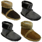 MENS COOLERS COMFORT FUR WARM SNUGG WINTER ANKLE SLIPPERS SHOES MULES BOOT SIZE
