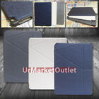 PU Syn Leather Cover Case w/Magnetic Cover Lock Multi-Angle For Apple iPad Air