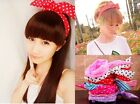 Lady Girl Cute Sweet Big Bowknot Ribbon Headband Bow Head Band various ways ,new