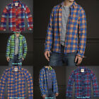 BNWT Hollister by Abercrombie Mens Flannel Shirt - Classic Plaid Long Sleeve!