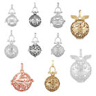 1/10pcs Wholesale silvery / gold Mexican bola cage pendant for 18mm / 20mm ball