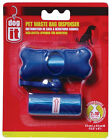 Hagen Dogit WASTE BAG HOLDER Biodegradabe Dog Waste Poop Clean Up Blue or Pink