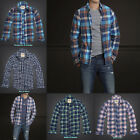 BNWT Hollister by Abercrombie Mens Flannel Shirt - Classic Long Sleeve Plaid!