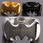 Men's Jewelry Stainless Steel Batman Superhero Finger Biker Ring Silver Black