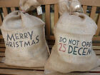 East of India Large Shabby Vintage Brown Hessian Santa Sack Chic Stockings Bags
