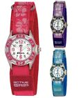 Ravel Girls Childrens Kids Hibiscus Velcro Strap Watch Xmas Gift For Her R1507