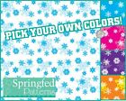 SNOWFLAKES PATTERN VINYL #1 Craft Decal Sheets Scrapbook PICK YOUR OWN COLORS!