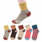 Women's Rabbit Wool Blend Winter Warm Thick Solid Soft Ankle Socks 1 Pair