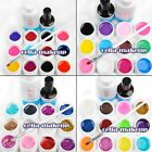 12XPure Solid Glitter UV Builder Gel Nail Art Cleanser Remover Top Coat Tips Kit