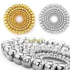 Wholesale 100/500pcs Round Ball Silver/Golden Plated Spacer Beads 4/5/6/8mm