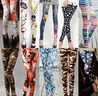 Sexy Women's Skinny Colorful Punk Funky Stretchy Pencil Tights Pants Trousers