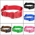 New 6 Colors S/M/L Nylon Pet Dog Cat Puppy Adjustable Spring Buckle Lead Collars