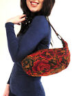 Tapestry & Leather Strap Shoulder Bag Fair trade Handmade floral geometric