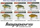 Koppers Live Target Lipless Rattle Trap Crankbaits Any GS Shiner Bait Color Size