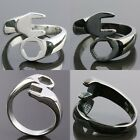 Men's Silver/Black Stainless Steel Wrench Spanner Finger Ring Jewelry Size 8-15