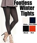Women's Thick Super Soft #2038L Winter FOOTLESS Tights Regular Solid One Size
